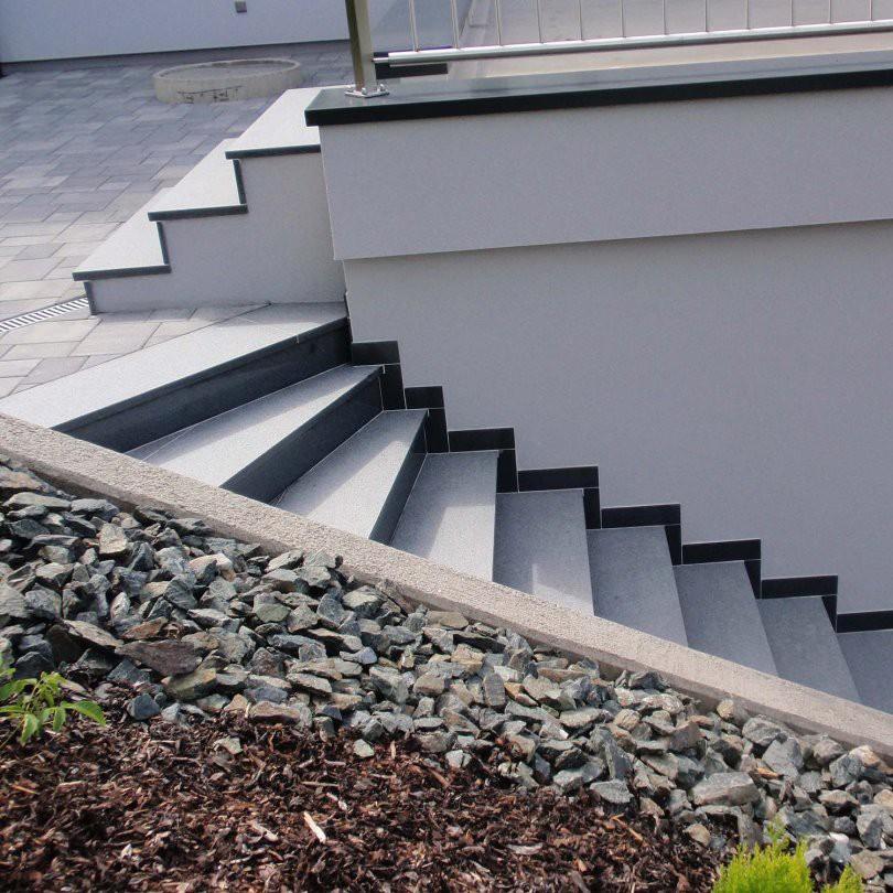 tritt und setzstufe aussen granit dunkel geflammt 125x33x3 125x15x2cm ebay. Black Bedroom Furniture Sets. Home Design Ideas